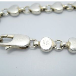 Tiffany & Co. Jewelry - Tiffany Sterling Silver Chain Of Hearts Bracelet